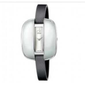 Calvin Klein cinturino dell'orologio K2E236-K600000084 Pelle Grigio 9mm