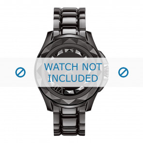 Karl Lagerfeld cinturino dell'orologio KL1001 Metallo Nero 10mm