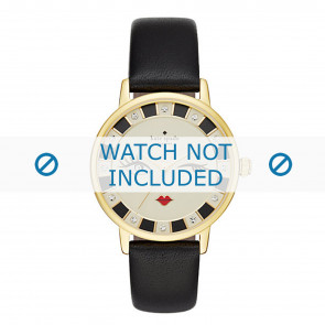 Kate Spade New York cinturino dell'orologio KSW1052 / METRO Pelle Nero
