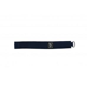 Cinturino orologio in velcro, blu marino, 18mm