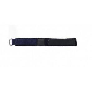 Cinturino orologio in velcro, blu scuro, 14mm