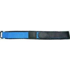 Cinturino orologio in velcro, 20mm, azzurro