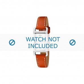 Lacoste cinturino dell'orologio 2000310 / LC-05-3-14-0006 Pelle Arancione 12mm + cuciture bianco