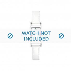 Lacoste cinturino dell'orologio 2000367 / LC-05-3-19-0066 Pelle Bianco 12mm + cuciture bianco