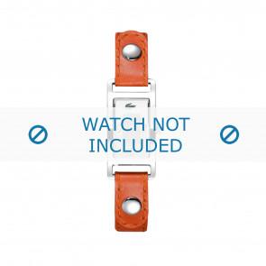 Lacoste cinturino dell'orologio 2000385 / LC-05-3-14-0009 Pelle Arancione 12mm + cuciture bianco