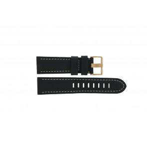 Prisma cinturino dell'orologio LEDZWR Pelle Nero 23mm + cuciture bianco