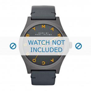 Marc by Marc Jacobs cinturino dell'orologio MBM1216 Pelle Grigio antracite + cuciture grigio