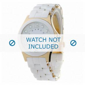 Marc by Marc Jacobs cinturino dell'orologio MBM2526 Gomma Bianco 18mm