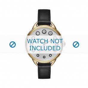 Marc by Marc Jacobs cinturino dell'orologio MJ1479 Pelle Nero 12mm + cuciture nero