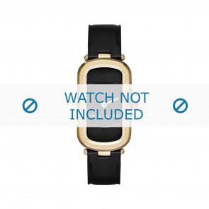 Marc by Marc Jacobs cinturino dell'orologio MJ1484 Pelle Nero 14mm + cuciture nero