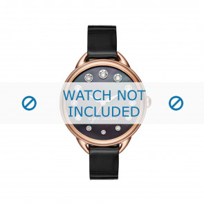 Marc by Marc Jacobs cinturino dell'orologio MJ1511 Pelle Nero 12mm
