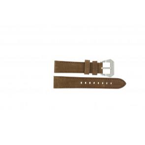 Max cinturino dell'orologio BR / 20mm  Pelle Marrone 20mm + cuciture marrone