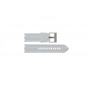 Nautica cinturino orologio A15567G Gomma Bianco 24mm