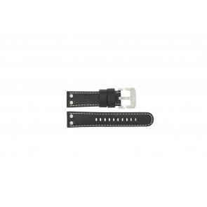 TW Steel cinturino dell'orologio TWB22 / TW22 Pelle Nero 22mm + cuciture bianco