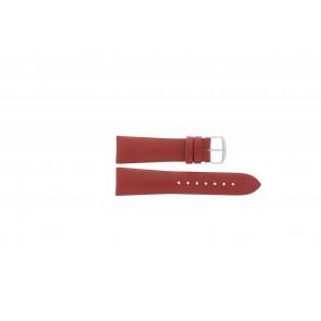 Davis cinturino dell'orologio B0194 Pelle Rosso 22mm