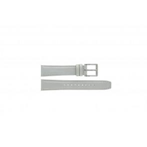 DKNY cinturino dell'orologio NY8585 Pelle Bianco + cuciture bianco