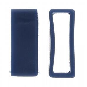 Passante di Cinturino orologio in gomma, blu 24mm