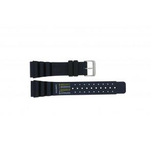 Dutch Forces cinturino dell'orologio 12750-BL Gomma / plastica Blu 24mm
