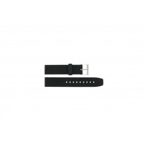 Cinturino dell'orologio PU102 Gomma / plastica Nero 20mm