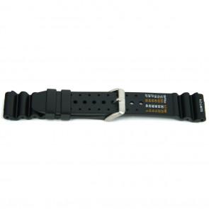 Cinturino dell'orologio 8136 / Citizen Gomma Nero 20mm