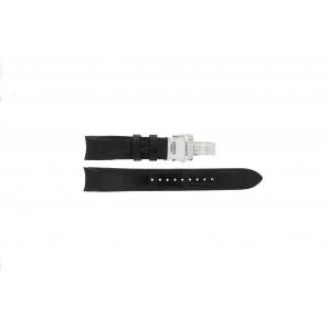 Seiko cinturino dell'orologio 7D48-0AA0 / 7T62-0FF0 / 4KK6JZ / 34H6JZ / SNP005P1 Pelle Nero 20mm + cuciture nero