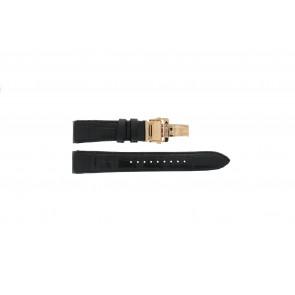Seiko cinturino dell'orologio SNL044P1 / 4LJ5KB / 7L22 0AR0 Pelle Nero 21mm + cuciture nero