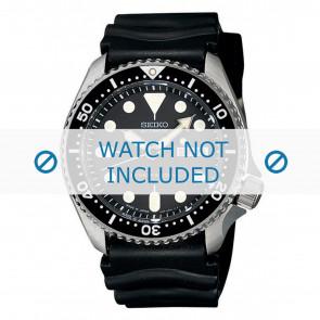 Seiko cinturino dell'orologio 7S26-0020-SKX007K1 Gomma Nero 22mm