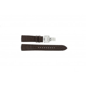 Seiko cinturino dell'orologio 7T04-0AA0 / SPC059P1 / 5D44-0AD0 / 7D56-0AA0 / 6A32-00R0 Pelle Marrone 21mm + cuciture marrone