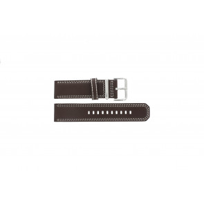 Seiko cinturino orologio 7T62-0HM0 Pelle Marrone 24mm