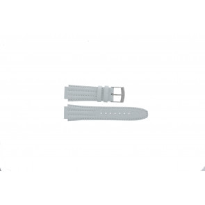 Seiko cinturino orologio 7T92-0HD0 Pelle Bianco 16mm