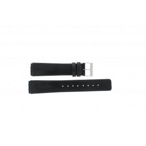 Skagen cinturino dell'orologio 433LSLC Pelle Nero 20mm + cuciture di default