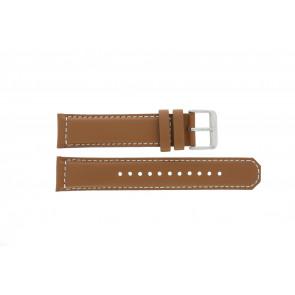 Seiko cinturino dell'orologio SRPA75K1 / 4R35 01N0 / M0FP71BN0 Pelle Cognac 21mm + cuciture bianco