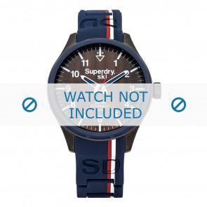 Superdry cinturino dell'orologio SYG185U Silicone Blu