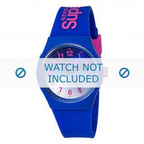 Superdry cinturino dell'orologio SYG198UU Plastica Blu