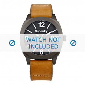 Superdry cinturino dell'orologio SYL116TT Pelle Cognac + cuciture di default