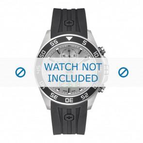 Swiss Military Hanowa cinturino dell'orologio 06-4222.04.009 Gomma / plastica Nero 24mm