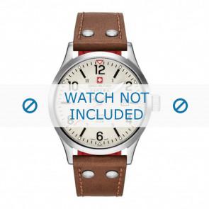 Swiss Military Hanowa cinturino dell'orologio 06-4280.04.002.05 Pelle Cognac 22mm + cuciture bianco