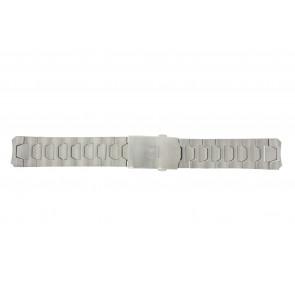 Tissot cinturino dell'orologio T013.420.44.202.00 - T605026146 / T013.420.A Titanio Argento 21mm