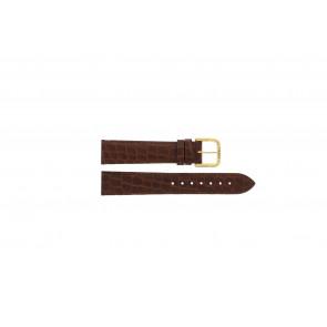 Tissot cinturino dell'orologio 970-122 T870 - T600013060 Pelle di coccodrillo Marrone 18mm