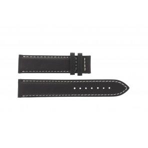 Tissot cinturino dell'orologio T014.410.16.037.00 - T610025416 Pelle Marrone scuro 19mm + cuciture bianco