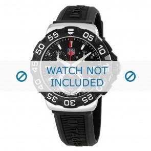 Tag Heuer cinturino dell'orologio BT0714 Gomma Nero