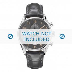 Tag Heuer cinturino dell'orologio CAR2013-FC6313 Pelle Grigio + cuciture grigio