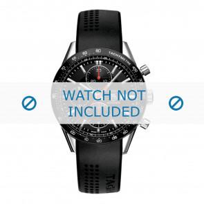 Tag Heuer cinturino dell'orologio CV2014-FT6014-BT6015 20x3mm Gomma Nero 20mm