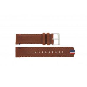 Tommy Hilfiger cinturino dell'orologio TH-248-1-14-1685 / TH679301739 Pelle Marrone + cuciture marrone
