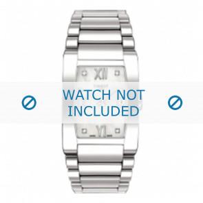 Tissot cinturino dell'orologio T007309 T-Trend - T605024874 Metallo Argento 18mm