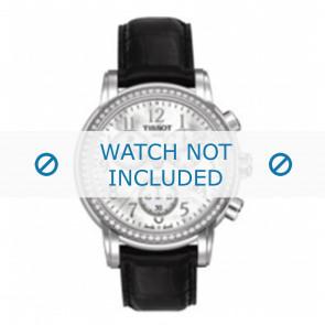 Tissot cinturino dell'orologio T050.207.A Lady Heart Dressport - T610029086 / T050.217.A / T906.217.A Pelle di coccodrillo Nero 16mm