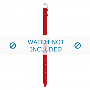 Tommy Hilfiger cinturino dell'orologio TH-14-3-25-0676 - TH679300904 / 1700391 Pelle Rosso 10mm + cuciture rosso