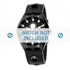 Tommy Hilfiger cinturino dell'orologio TH-37-3-14-0681 - TH679300907 / 1790617 Gomma Nero 16mm + cuciture nero