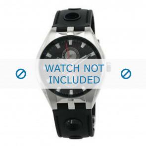 Tommy Hilfiger cinturino dell'orologio TH-37-3-14-0683 - TH679300909 / 1790619 Gomma Nero 16mm + cuciture di default