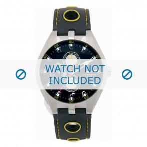 Tommy Hilfiger cinturino dell'orologio TH-37-3-14-0684 - TH679300910 / 1790620 Gomma Nero 16mm + cuciture giallo